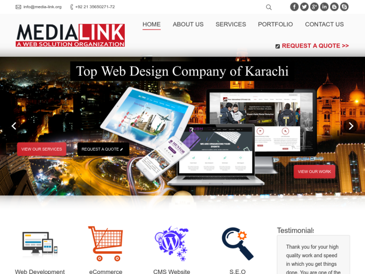 MediaLink Web Solution