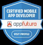 Appfutura Awards: Certified as Best Mobile App Developer