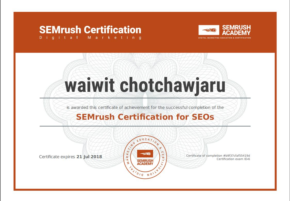 SEMrush Certification for SEOs