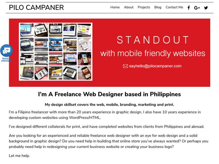 Pilo Campaner - Freelance Web Designer