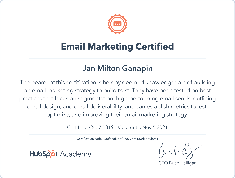 Email Marketing  - Hubspot