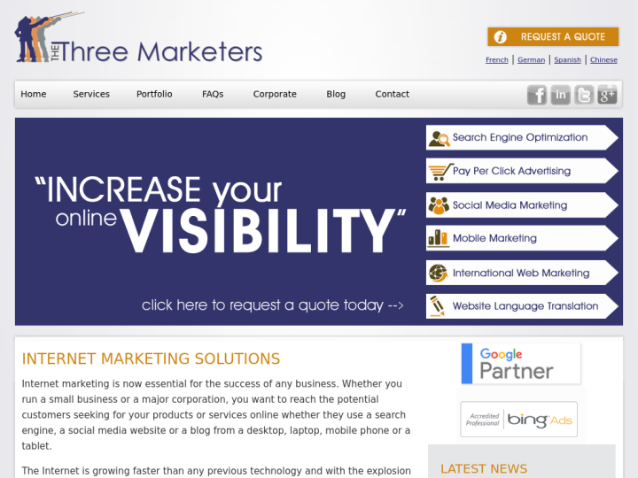 The Three Marketers Inc