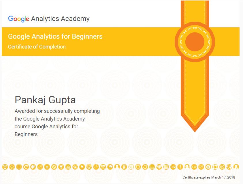 Google Analytics Beginner Certification