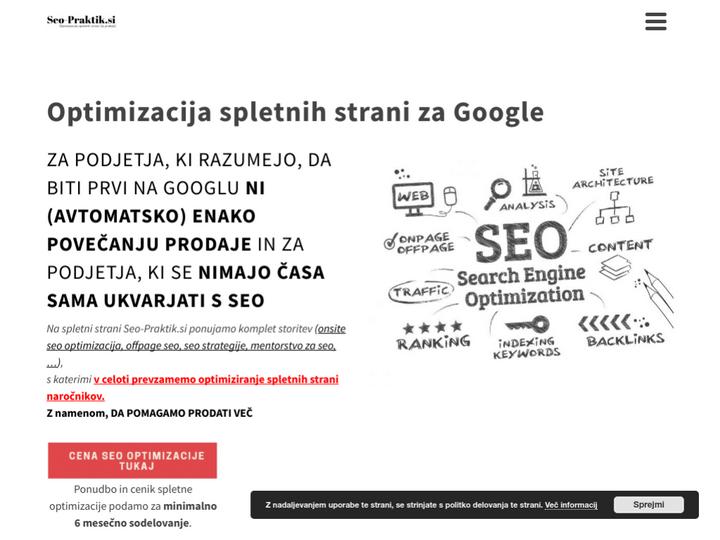 Optimizacija spletnih strani SeoPraktik.si