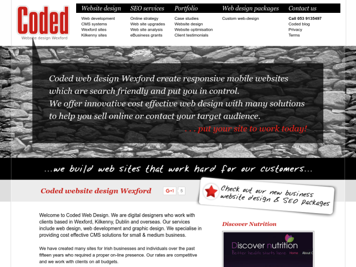 Coded web design Kilkenny