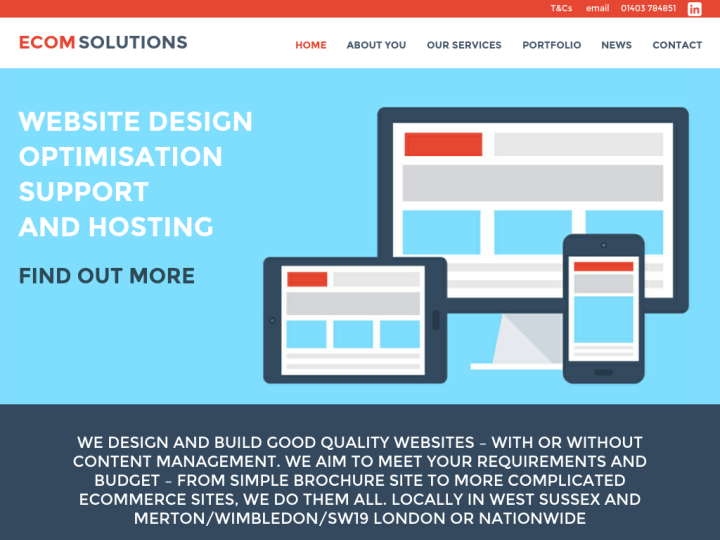 Web Design and Development Company UK for Website Design, Professional SEO services West Sussex, UK: Ecomsolutions