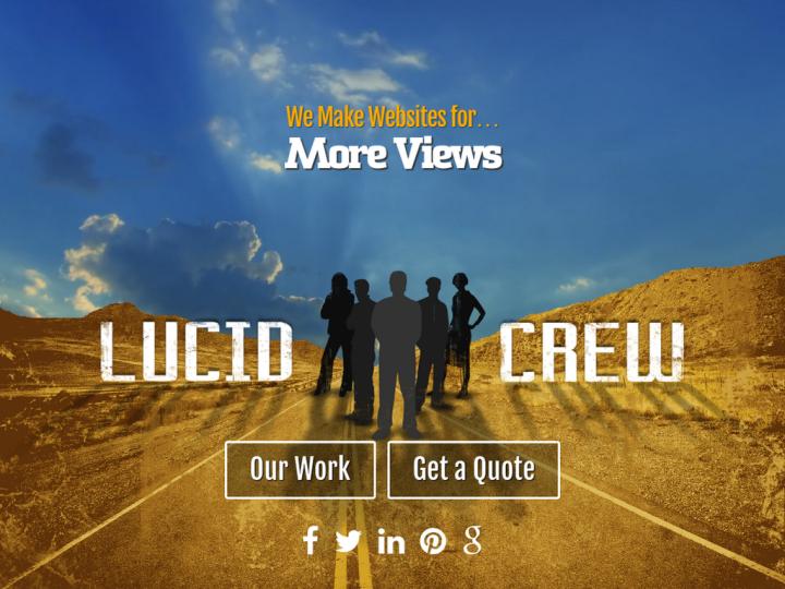 Lucid Crew Web Design