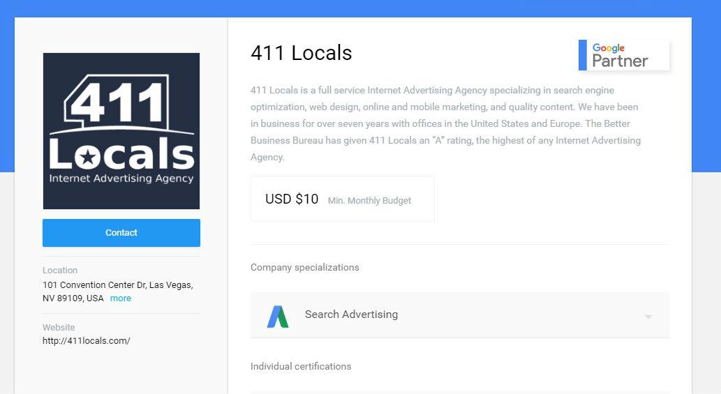 411 Locals Google Partner