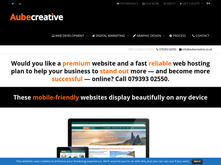Aubecreative Web Design