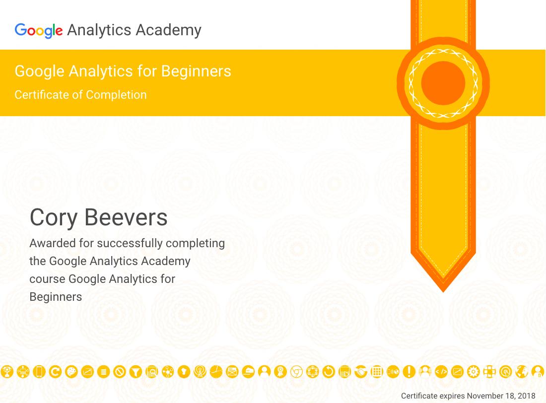 Google Analytics Begginer