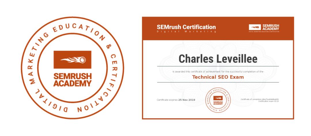 SEMrush Technical SEO Certified