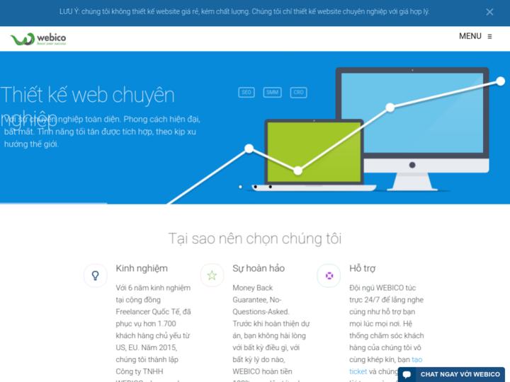 Cong ty thiet ke web WEBICO