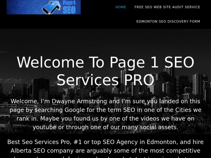 Page 1 SEO Services PRO