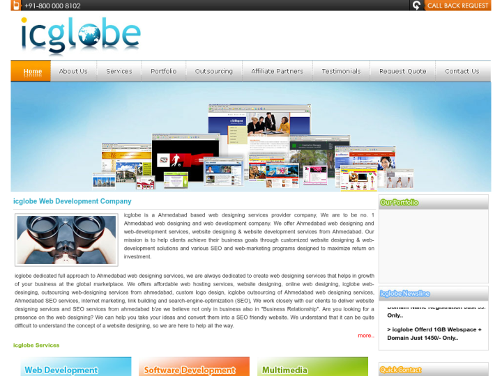 icglobe Web Development Company