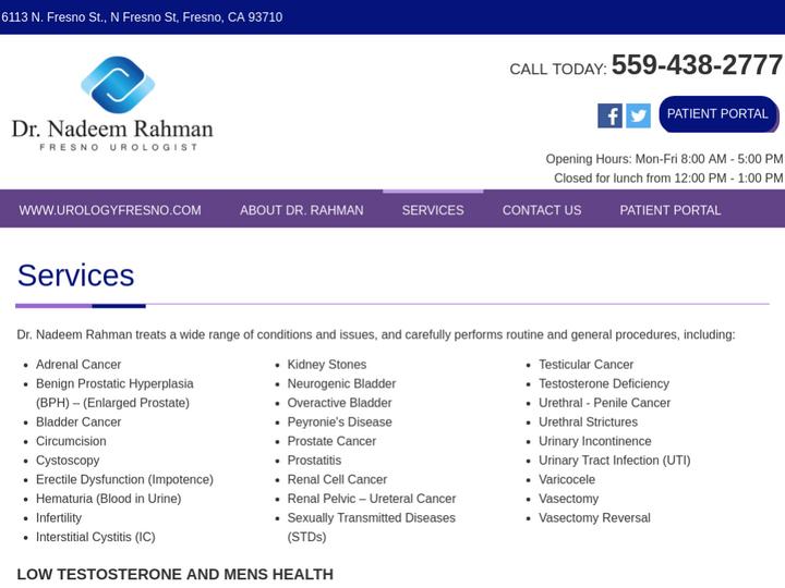 Dr  Nadeem Rahman, Fresno, USA, August 2019
