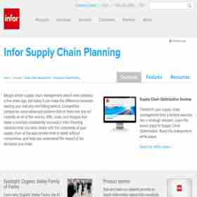 Infor Supply Chain Planning