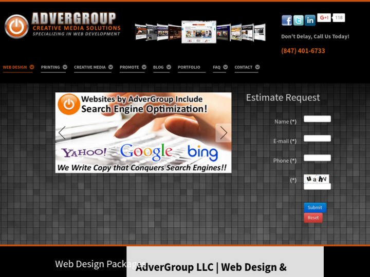 AdverGroup Web Design