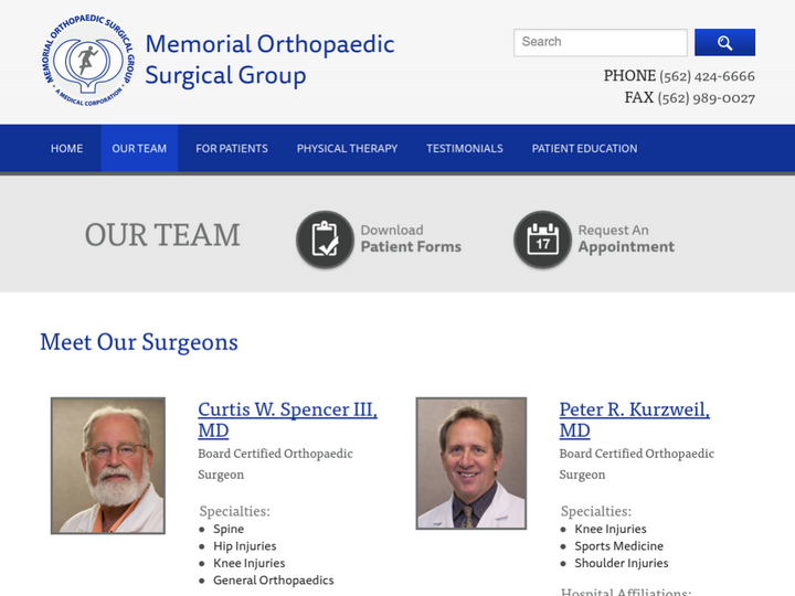 Memorial Orthopaedic Surgical Group