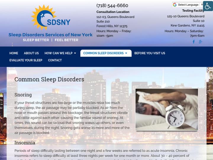 Sleep Disorders Services Of New York