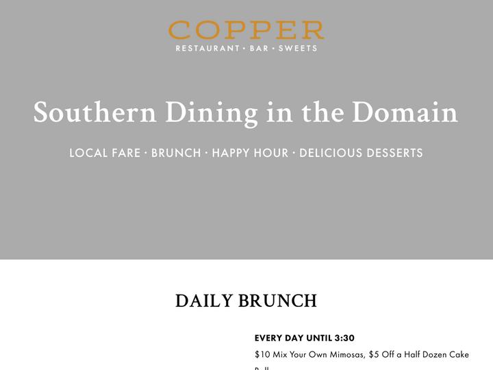 Copper Restaurant & Dessert Lounge