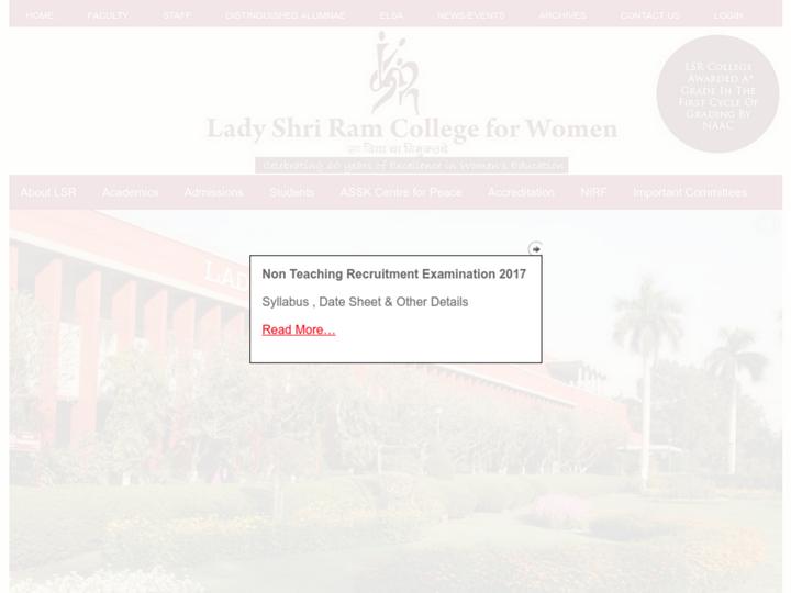 Lady Shri Ram College for Women, Delhi