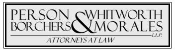 Person, Whitworth, Borchers & Morales, L.L.P.