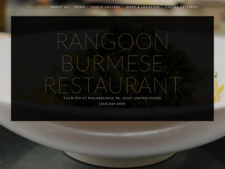 Rangoon Burmese Restaurant