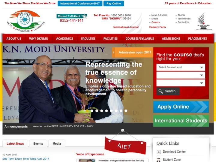 Dr K N Modi University, Jaipur
