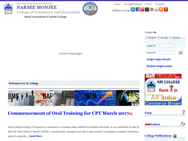 Shri Narsee Monjee College of Commerce and Economics , Mumbai