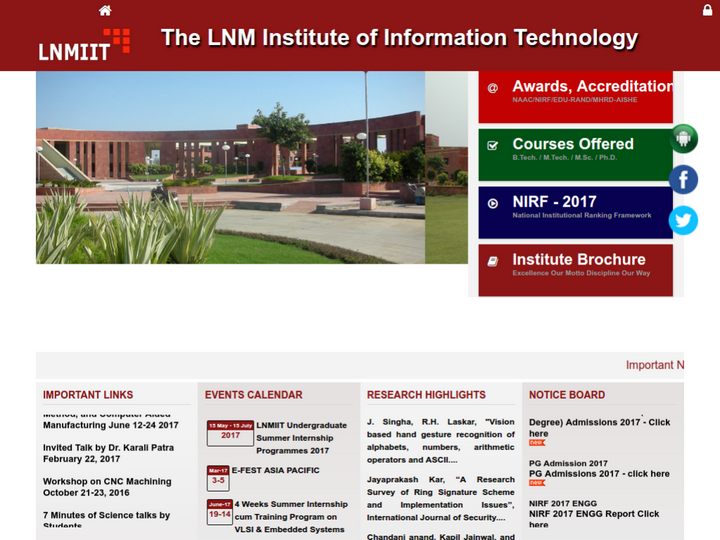 The LNM Institute of Information Technology, Jaipur