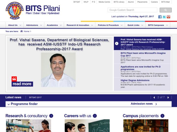 Birla Institute Of Technology & Science Pilani