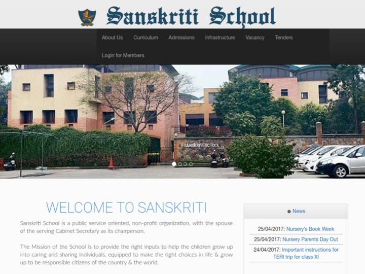 Sanskriti School, Chanakya Puri