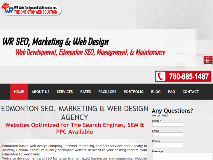 WR Web Design and Multimedia Inc.